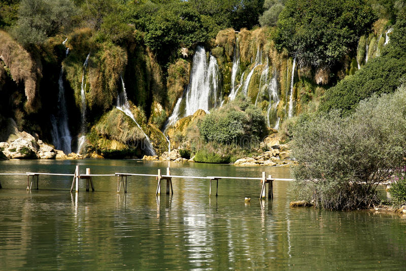 Cachoeira de Kravica em Bósnia imagem de stock royalty free