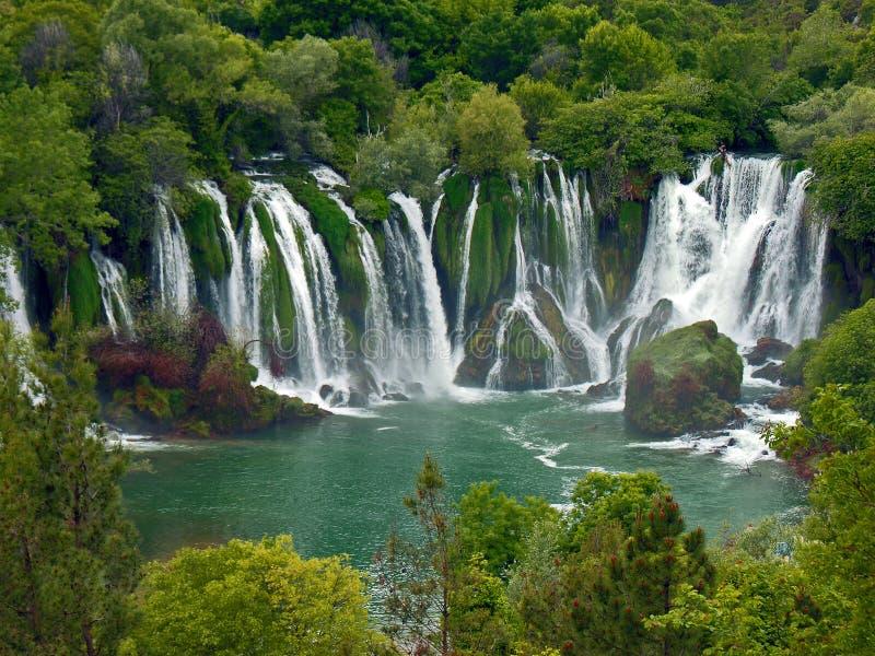 Cachoeira de Kravice imagem de stock