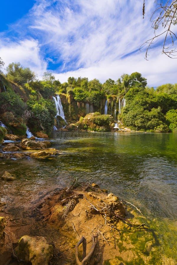 Cachoeira de Kravice em Bósnia e em Herzegovina imagem de stock royalty free