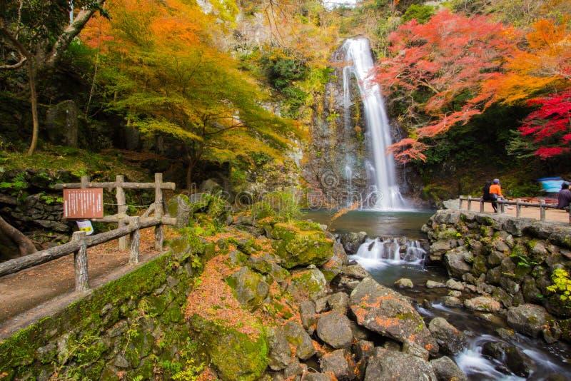 Cachoeira de Mino imagens de stock royalty free
