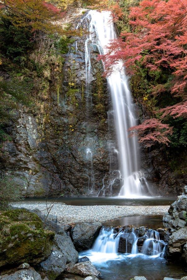 Cachoeira de Minoh no outono imagem de stock