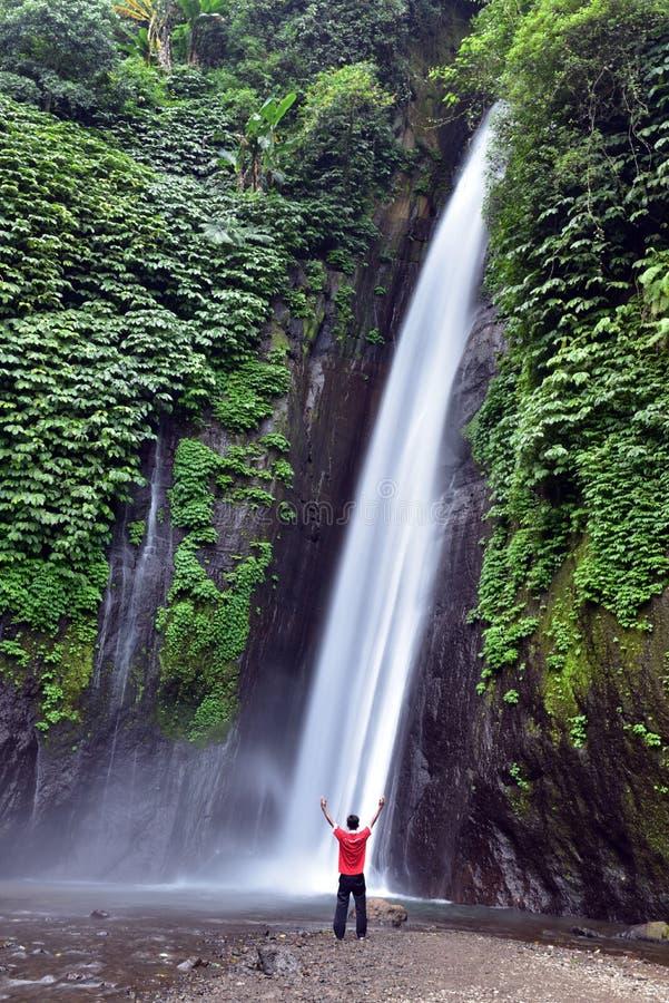 Cachoeira de Munduk, Bali foto de stock