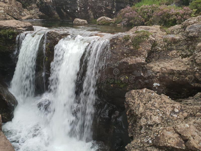Cachoeira de pedra no piont do Mountain View fotografia de stock royalty free