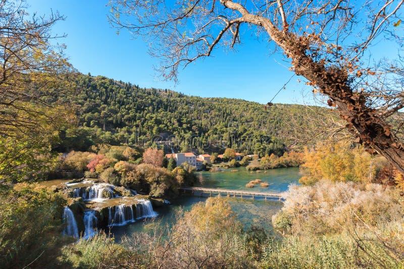 Cachoeira de Plitvice fotografia de stock royalty free
