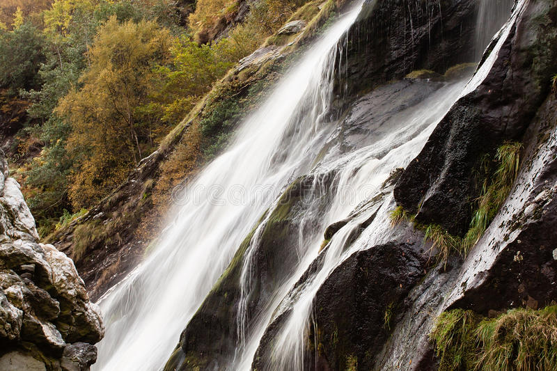 Cachoeira de Powerscourt, Wicklow, Irlanda foto de stock