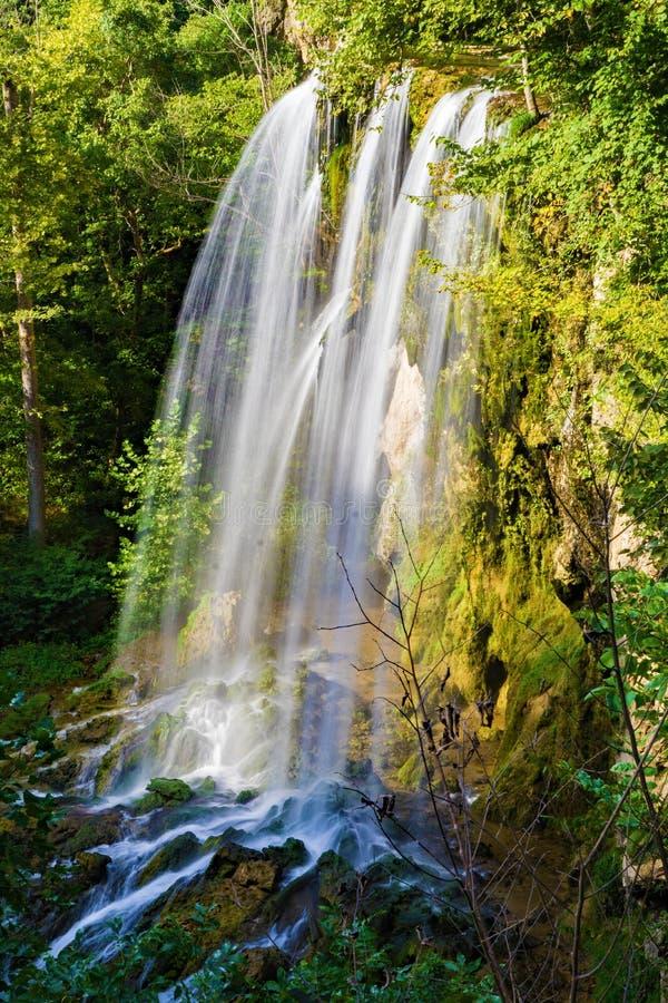 Cachoeira de queda das molas, Covington, Virgínia imagens de stock royalty free