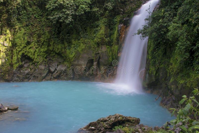 Cachoeira de Rio Celeste fotografia de stock royalty free