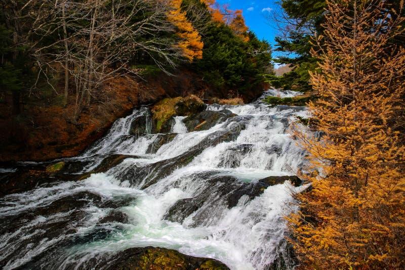 Cachoeira de Ryuzu em Nikko Japão imagens de stock royalty free