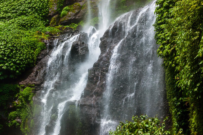 Cachoeira de Sekumpul - ilha Indonésia de Bali foto de stock royalty free