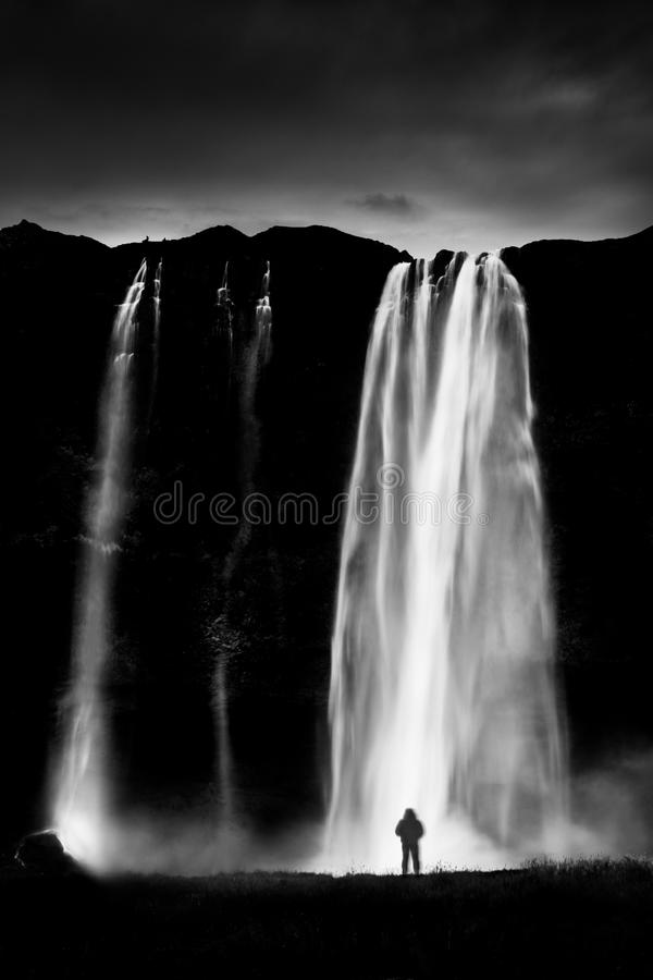 Cachoeira de Seljalandfoss, Islândia imagem de stock