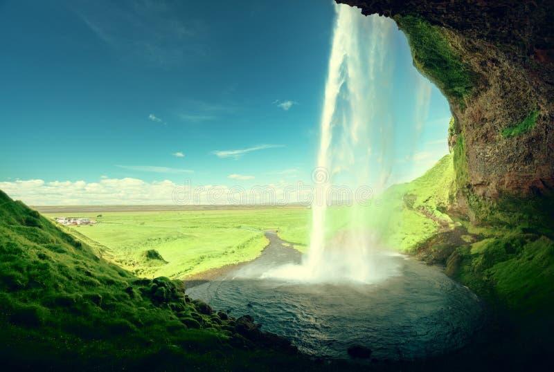 Cachoeira de Seljalandfoss, Islândia imagens de stock royalty free