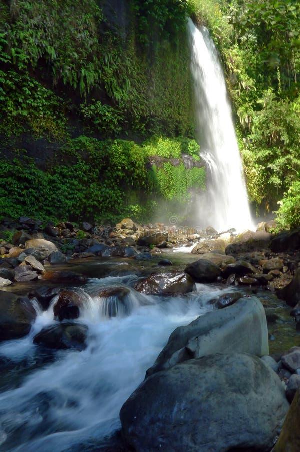 Cachoeira de Sindang Gila Lombok imagem de stock