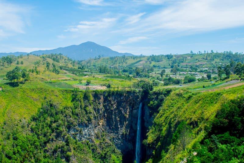 Cachoeira de Sipiso-piso imagem de stock