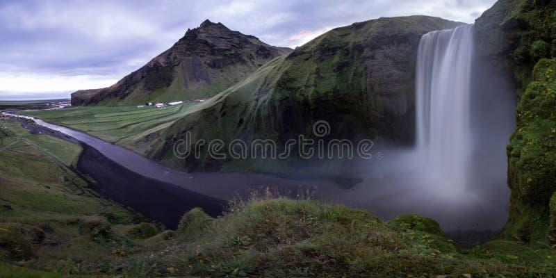 Cachoeira de Skogafoss fotos de stock