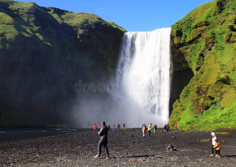 Cachoeira de Skogafoss, Isl?ndia fotografia de stock royalty free
