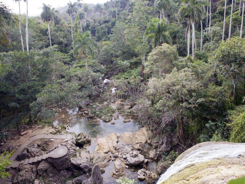 Cachoeira de Soroa, Pinar del Rio, Cuba imagem de stock royalty free