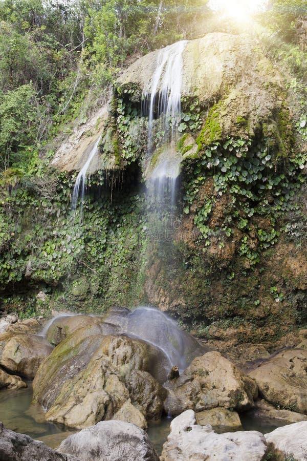 Cachoeira de Soroa, Pinar del Rio, Cuba imagens de stock royalty free