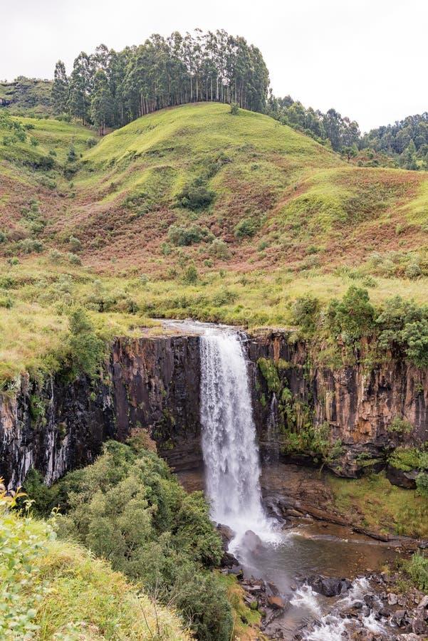 Cachoeira de Sterkspruit perto do capuz das monges imagens de stock royalty free