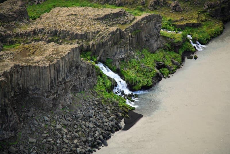 Cachoeira do basalto fotografia de stock royalty free