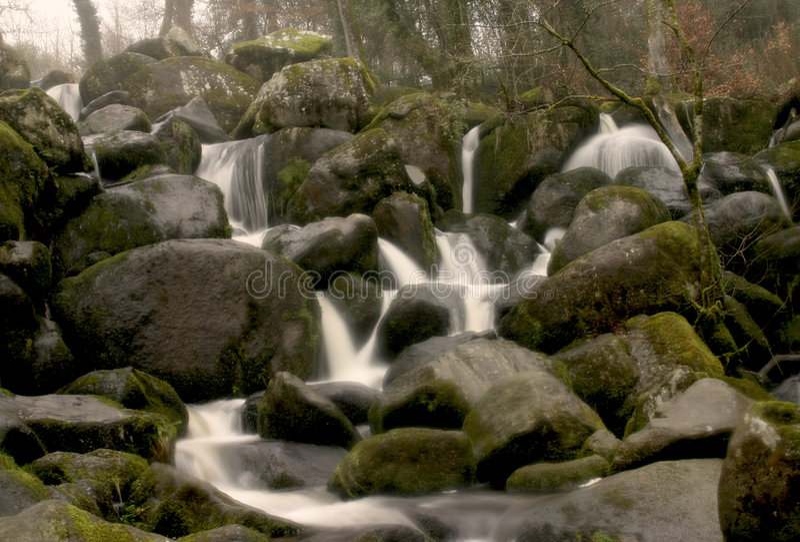Cachoeira do conto de fadas foto de stock royalty free