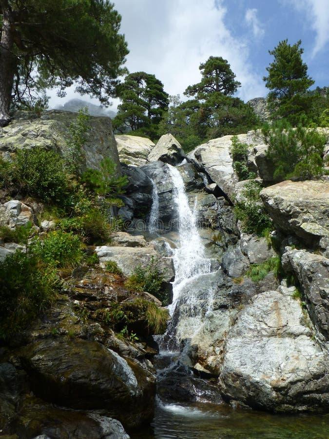 A cachoeira do DES Anglais da cascata fotografia de stock royalty free