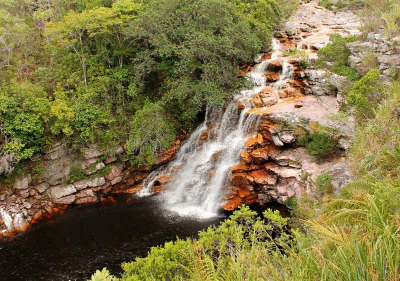 Cachoeira do diabo em Chapada Diamantina, Brasil. fotos de stock