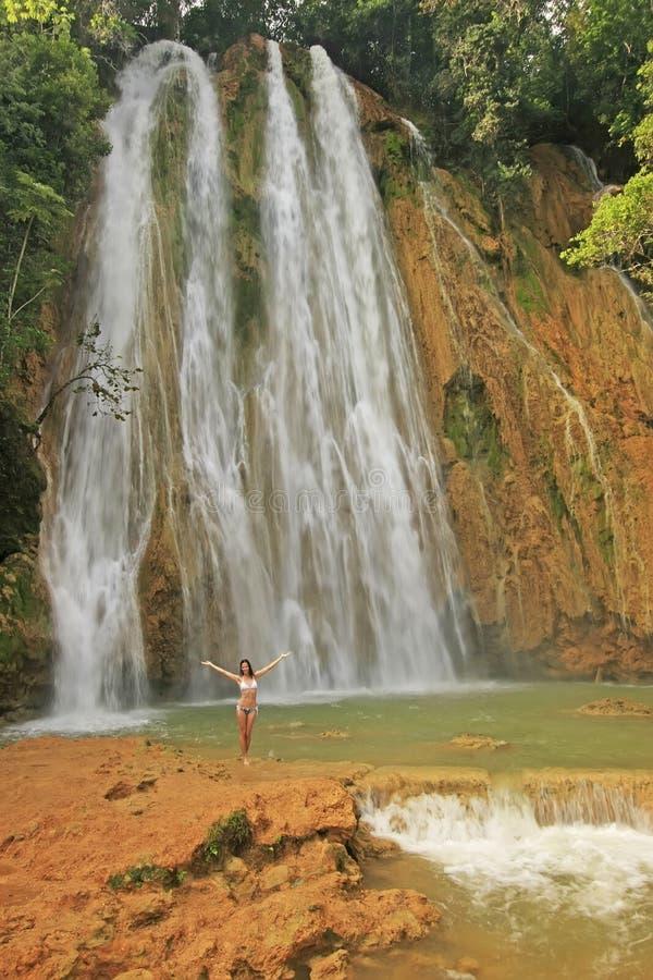 Cachoeira do EL Limon fotos de stock