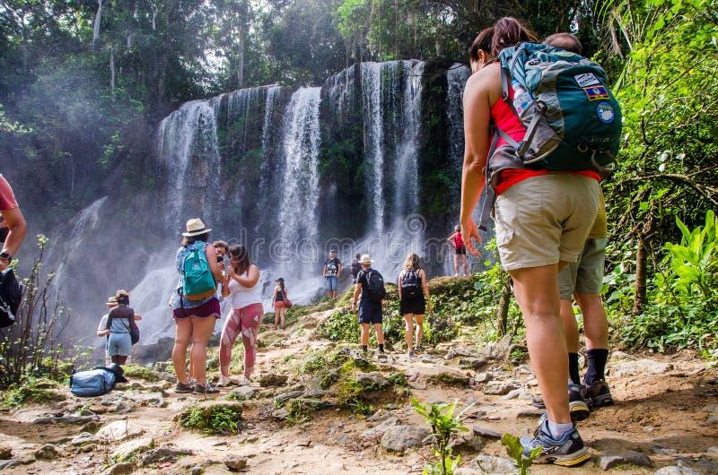Cachoeira do EL Nicho, Cuba 2 imagem de stock