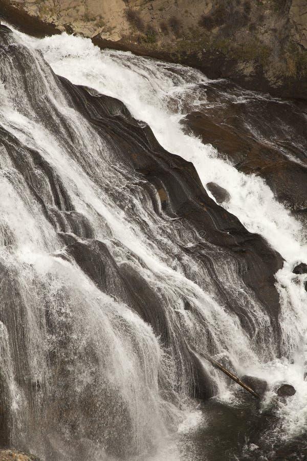 Cachoeira do Gibbon no parque nacional de Yellowstone, WY foto de stock royalty free