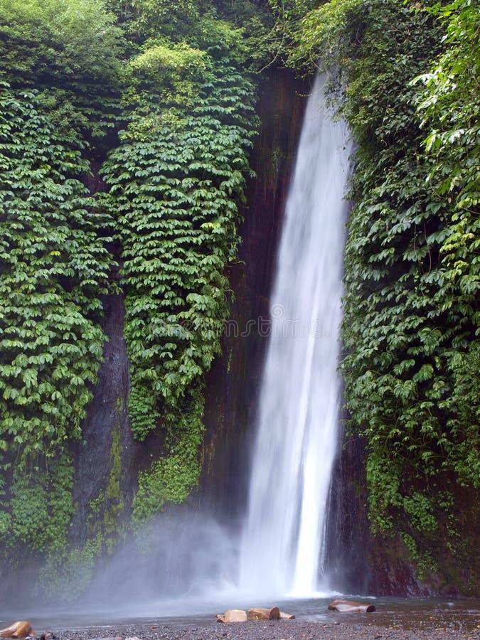 Cachoeira do munduk de Bali foto de stock