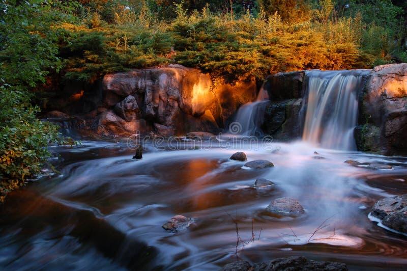 Cachoeira do Nighttime fotografia de stock royalty free