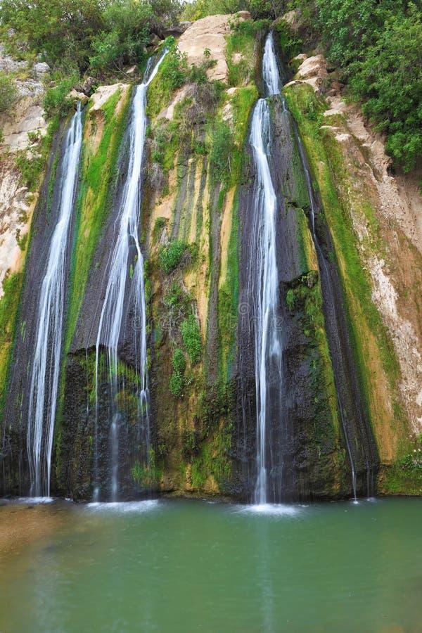 A cachoeira do três-jato fotografia de stock