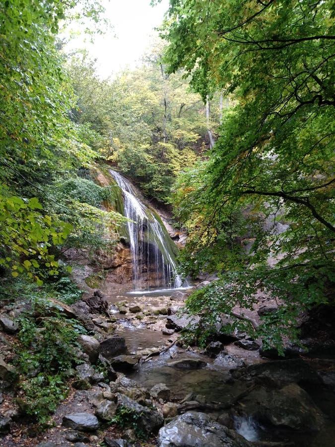 Cachoeira do verão de Crimeia imagem de stock royalty free