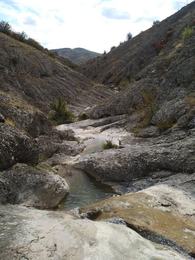 Cachoeira do verão de Crimeia fotografia de stock