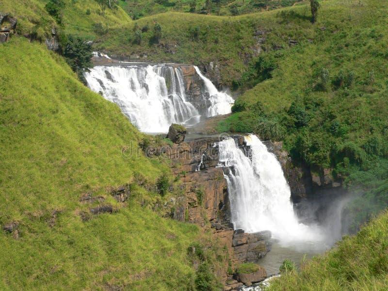 Cachoeira dobro imagens de stock