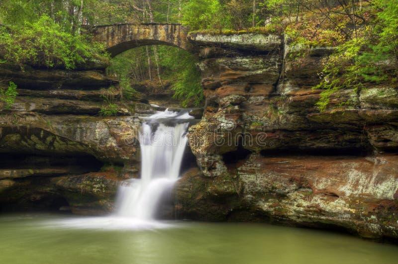 Cachoeira dos montes de Hocking fotos de stock
