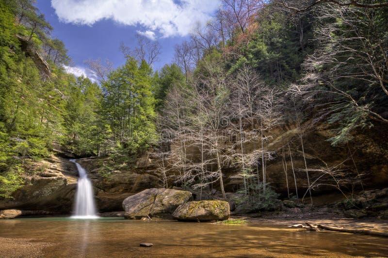 Cachoeira dos montes de Hocking imagem de stock royalty free