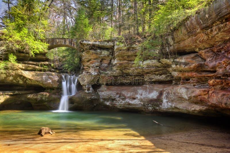 Cachoeira dos montes de Hocking imagens de stock royalty free