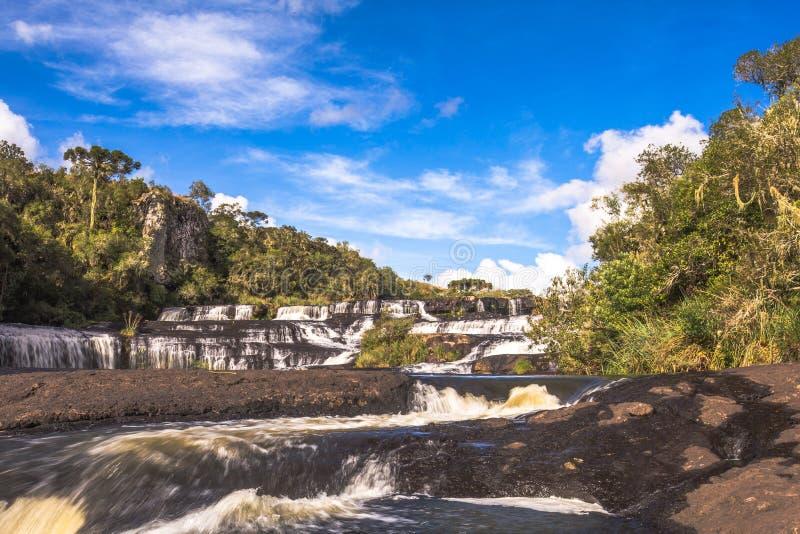 Cachoeira dos Venancios 免版税库存照片
