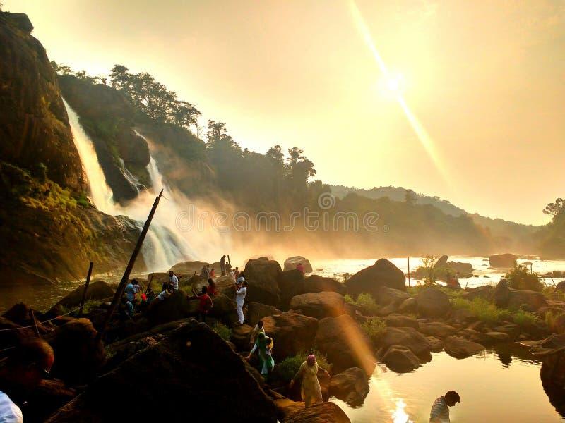 A cachoeira dourada imagens de stock