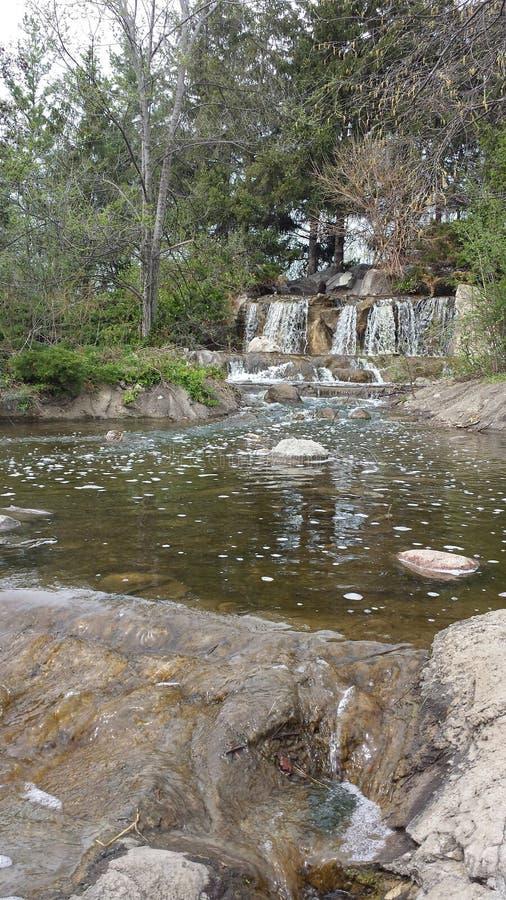 Cachoeira e angra em Illinois fotos de stock royalty free