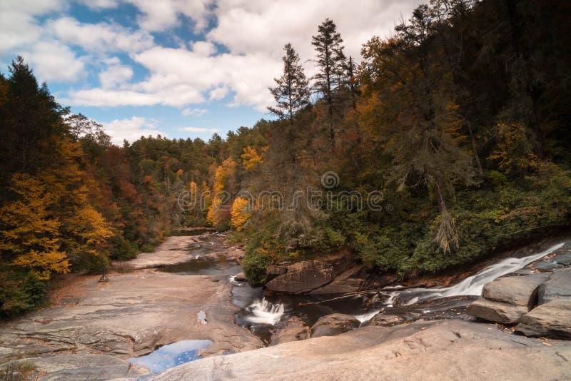 Cachoeira e floresta na queda imagem de stock royalty free