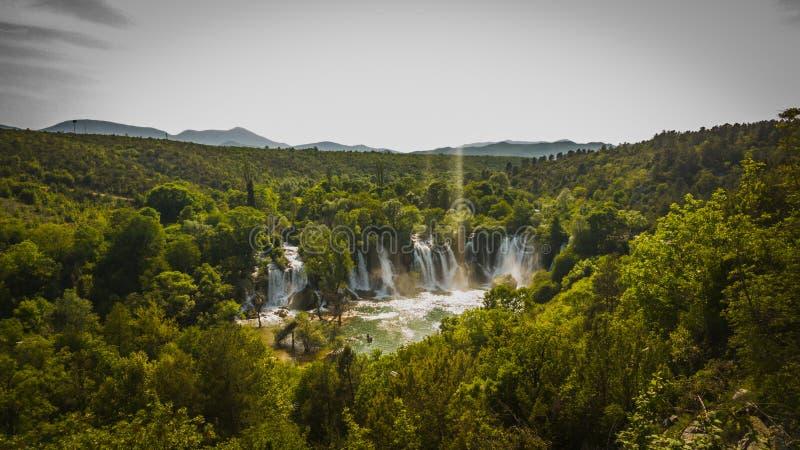 Cachoeira em Bósnia - Herzegovina foto de stock