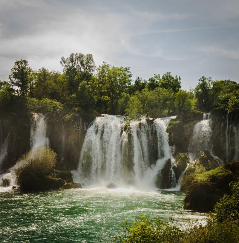 Cachoeira em Bósnia - Herzegovina fotos de stock royalty free
