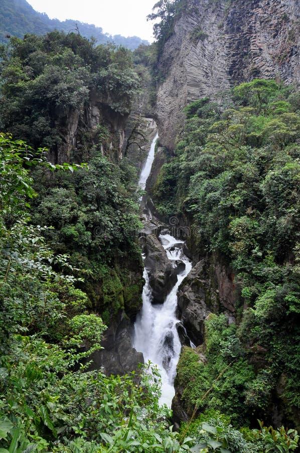 Cachoeira em Banos Santa Agua, Equador foto de stock royalty free