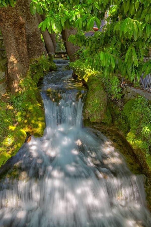 Cachoeira em Edessa fotografia de stock