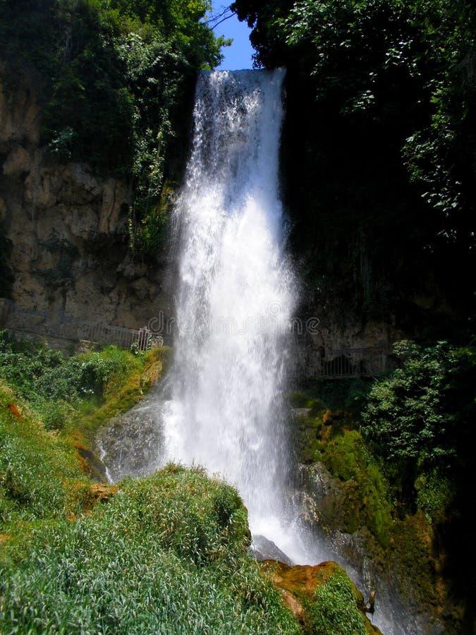 Cachoeira em Edessa, Grécia foto de stock