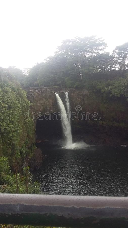 Cachoeira em Havaí foto de stock royalty free