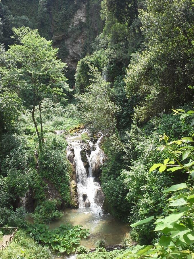 Cachoeira em Itália fotografia de stock
