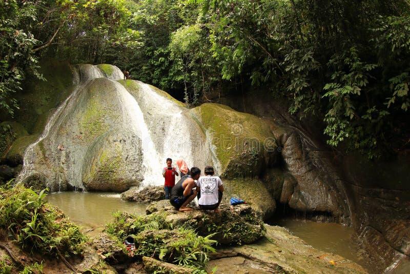 Cachoeira em Manokwari imagem de stock